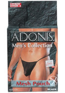 Adonis Mens Collection Mesh Pouch Black